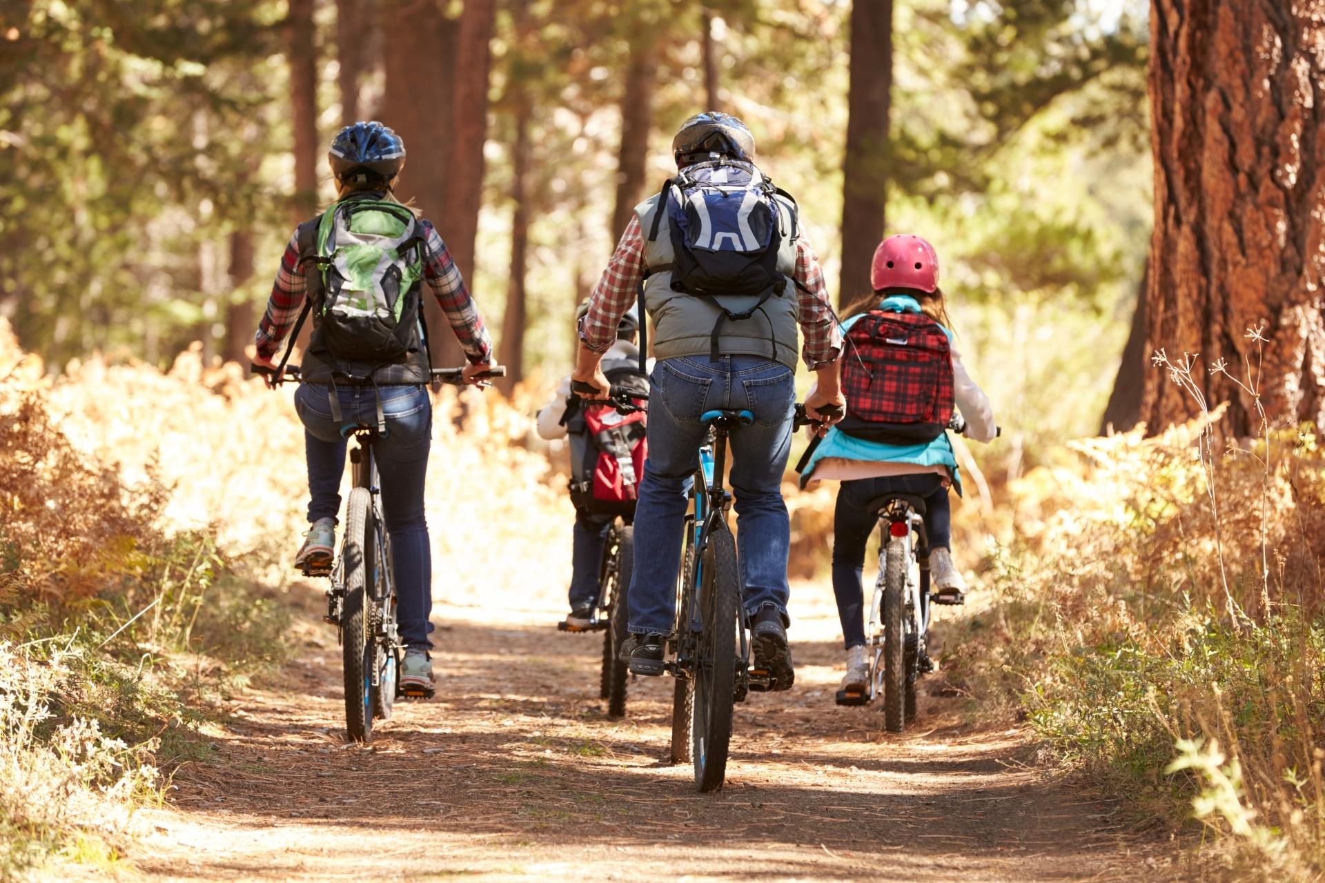 Genuss Radfahren mit der Familie © iStock - monkeybusinessimages