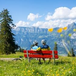 Gemütliche Pause in Flums Kleinberg im Heidiland © Thomas Kessler Visuals