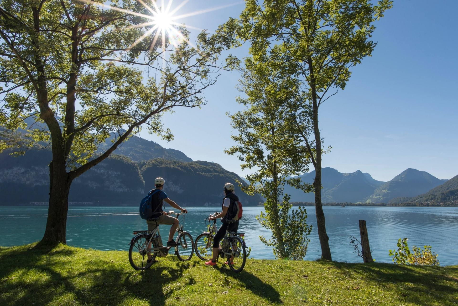 E-Bike Tour zum Walensee im Heidiland © Dolores Rupa