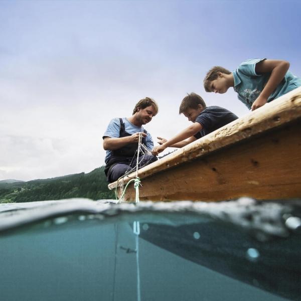 Anfischen am Millstaetter See © Kärnten Werbung - Fotograf Sam Strauss