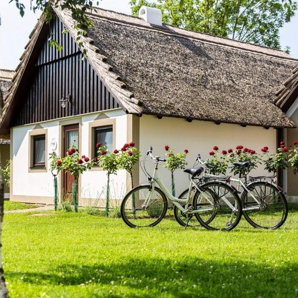 Bungalows mit Fahrrädern © VILA VITA Pannonia