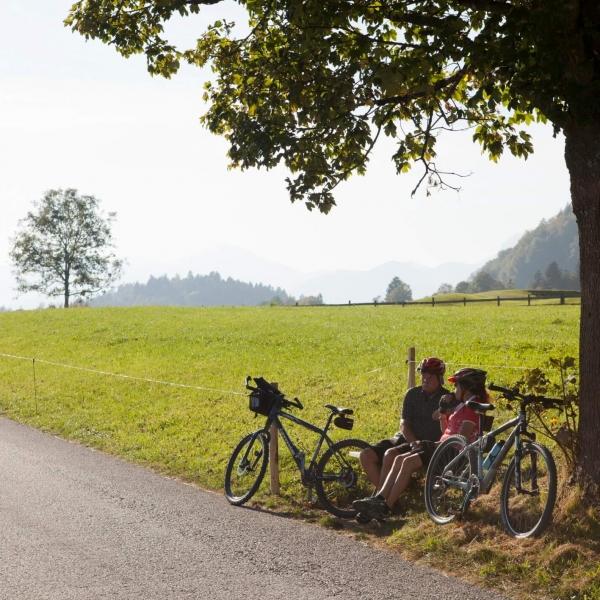 Familienradeln am Walchsee © Bernhard Bergm