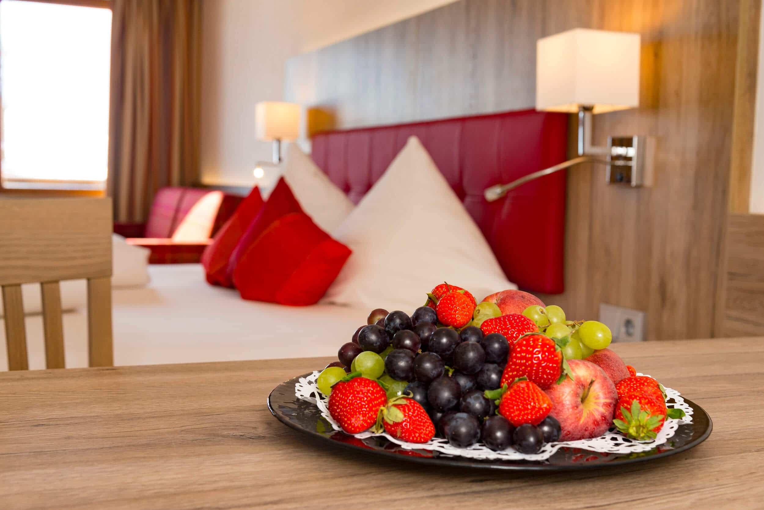 Obstteller im Doppelzimmer vom Bellevue © Bernhard Bergmann