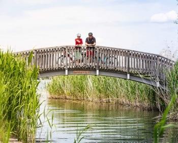 Pause der Radfahrer im Salzburger Seenland