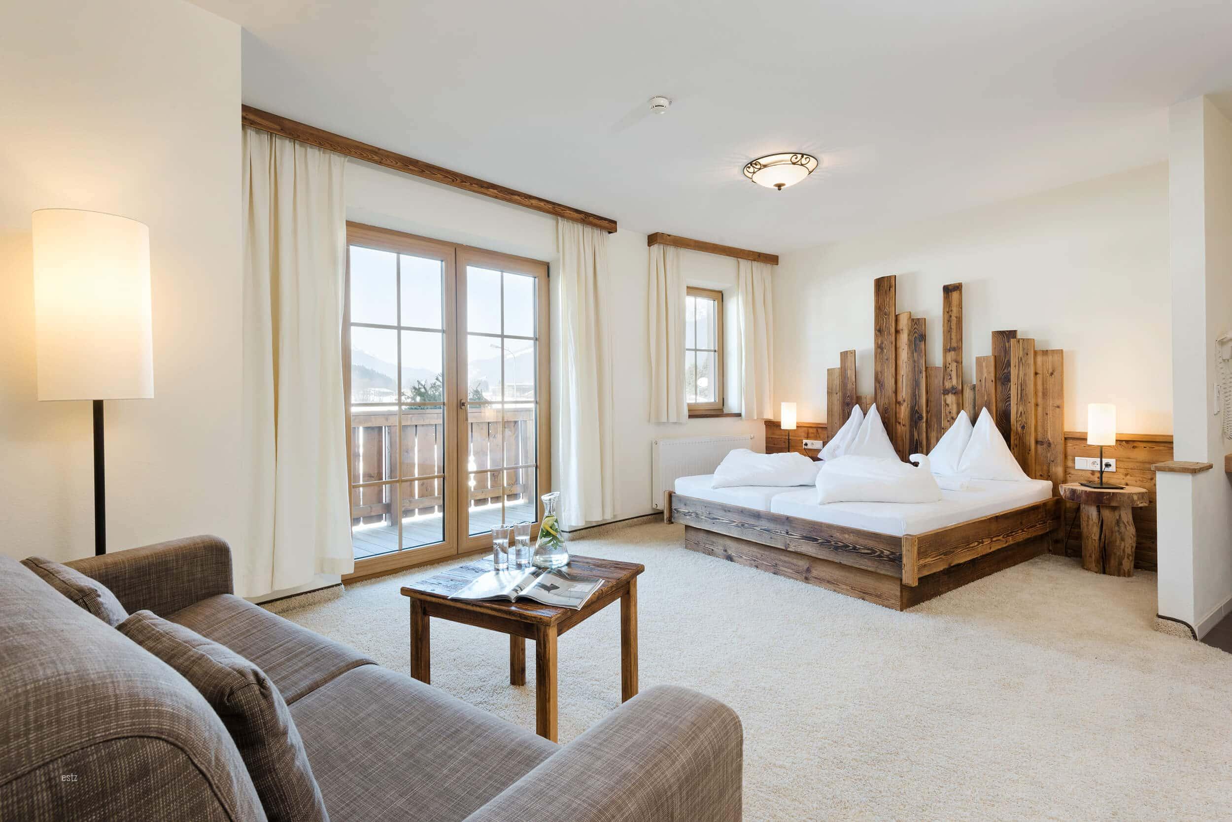 Schlafzimmer im Saliter Hof © www.guenterstandl.de