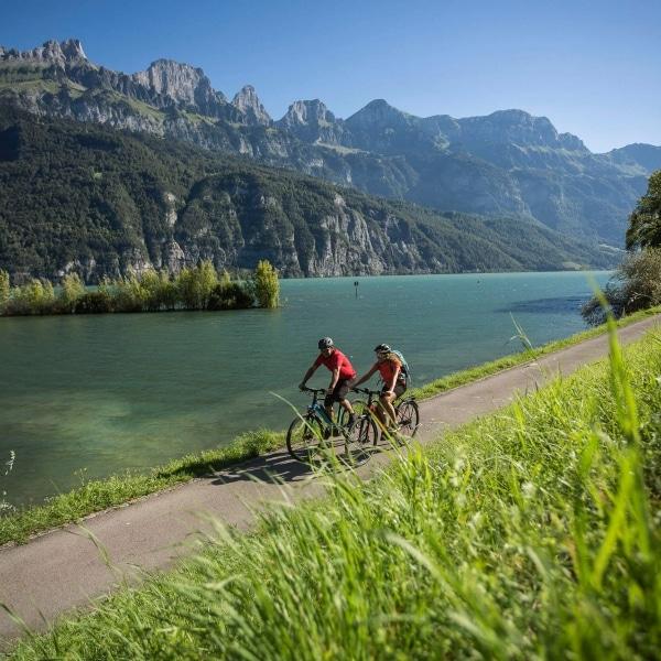 Radurlaub am Walensee in der Schweiz © Velontour