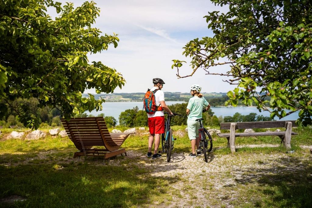 Pause der Radler im Salzburger Seenland © Velontour
