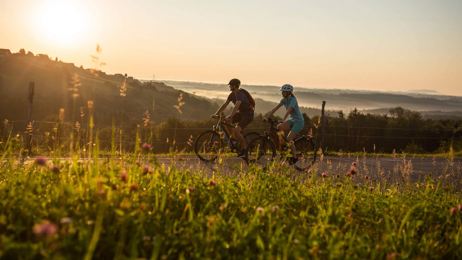 Abendstimmung bei der Radtour © Velontour