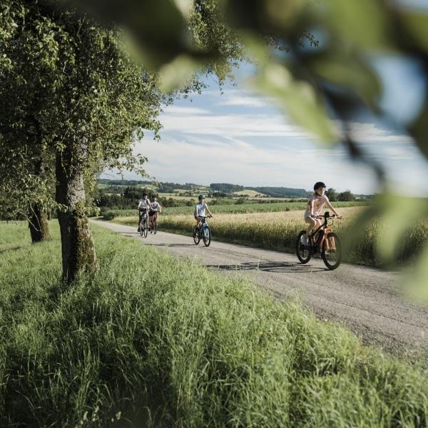 Vitalwelt Bad Schallerbach Radfahren Familie © Oberoesterreich Tourismus GmbH Robert Maybach