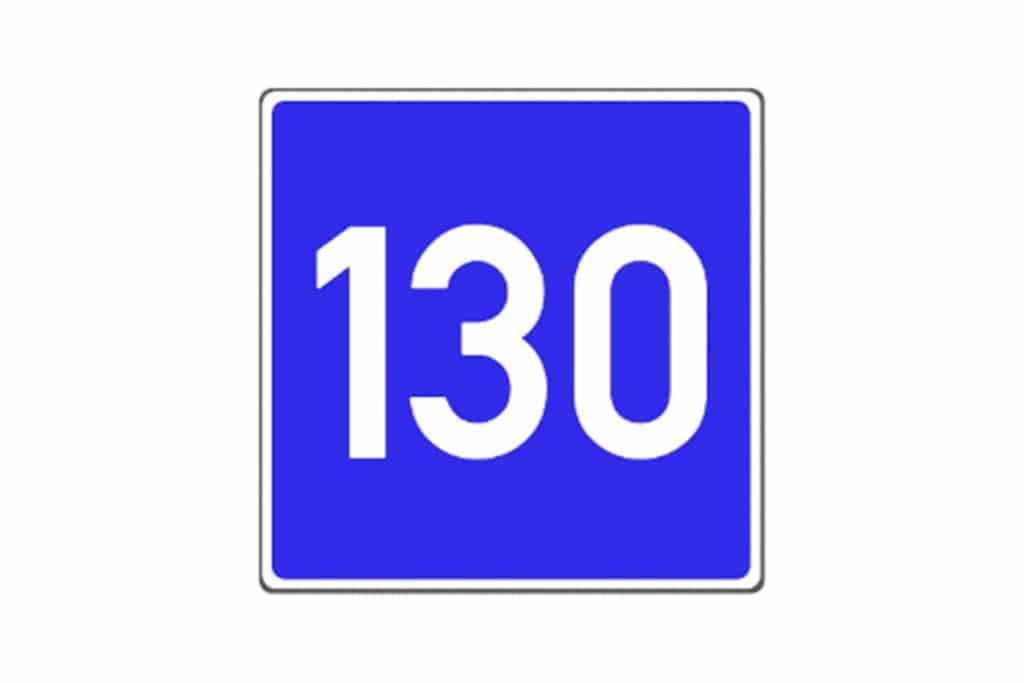 Schild Richtgeschwindigkeit 130km/h © Westfalia