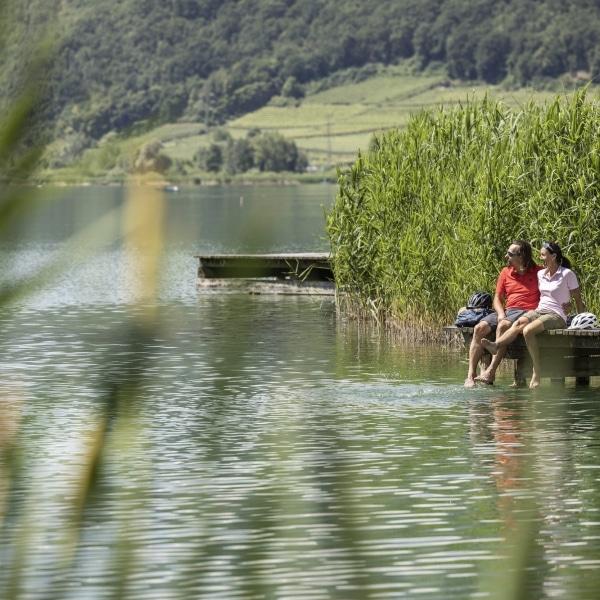 Die Zeit genießen und Entspannen am Kalterer See © Velontour